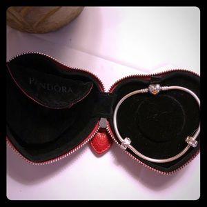 "9.1"" Sterling Silver Pandora Bracelet"